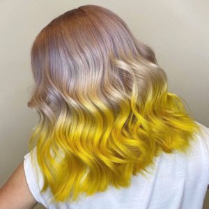 capellli due colori blond or yellow