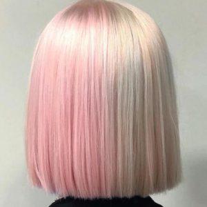capellli due colori pink blond
